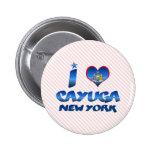 Amo el Cayuga, Nueva York Pins