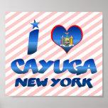 Amo el Cayuga, Nueva York Posters