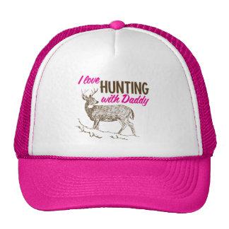 Amo el cazar con el papá gorras de camionero