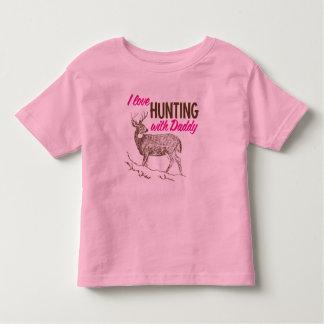 Amo el cazar con el papá playeras