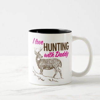 Amo el cazar con el papá tazas de café