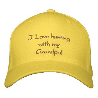 ¡Amo el cazar con mi abuelo! Gorras De Béisbol Bordadas