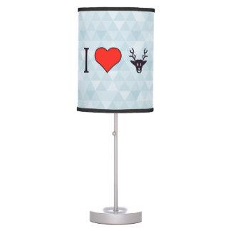 Amo el cazar lámpara de mesilla de noche