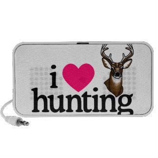 Amo el cazar portátil altavoces