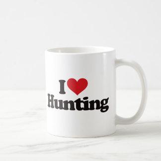 Amo el cazar taza