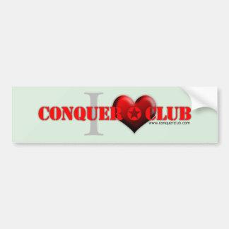 Amo el cc etiqueta de parachoque