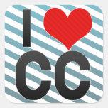 Amo el cc calcomanía cuadradase
