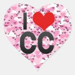 Amo el cc pegatinas corazon