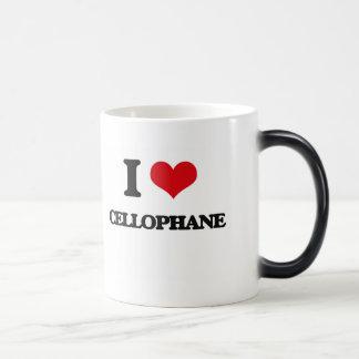 Amo el celofán tazas