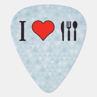 Amo el cenar hacia fuera plumilla de guitarra