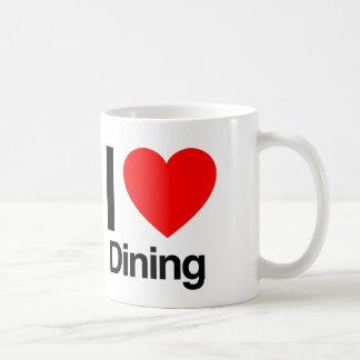 amo el cenar taza