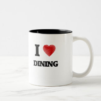 Amo el cenar taza de dos tonos