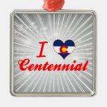 Amo el Centennial, Colorado Adornos De Navidad