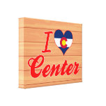 Amo el centro, Colorado Lienzo Envuelto Para Galerias