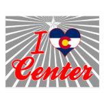 Amo el centro, Colorado Tarjetas Postales