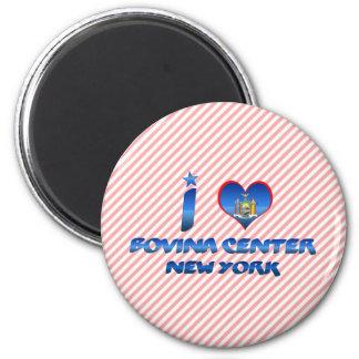 Amo el centro de Bovina, Nueva York Iman De Frigorífico