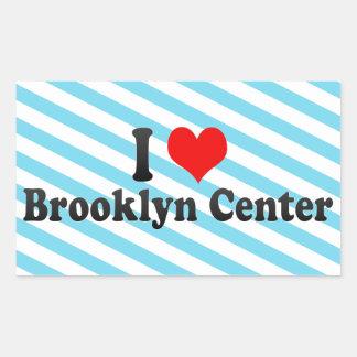 Amo el centro de Brooklyn, Estados Unidos Pegatina Rectangular