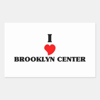 Amo el centro de Brooklyn Pegatina Rectangular