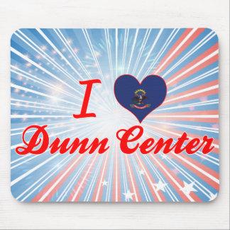 Amo el centro de Dunn, Dakota del Norte Alfombrillas De Raton