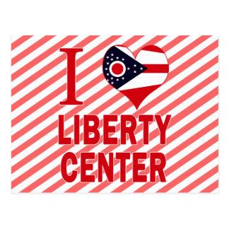 Amo el centro de la libertad Ohio Postales