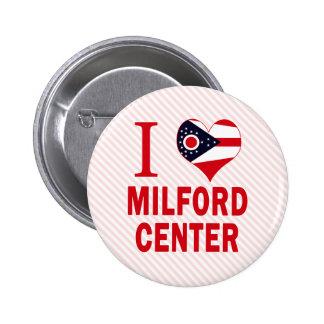 Amo el centro de Milford, Ohio Pins