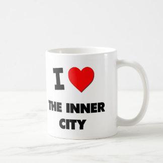 Amo el centro urbano tazas