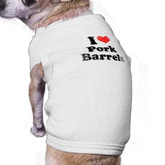 AMO el CERDO BARRELS png Camisas De Perritos