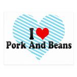 Amo el cerdo y habas postal