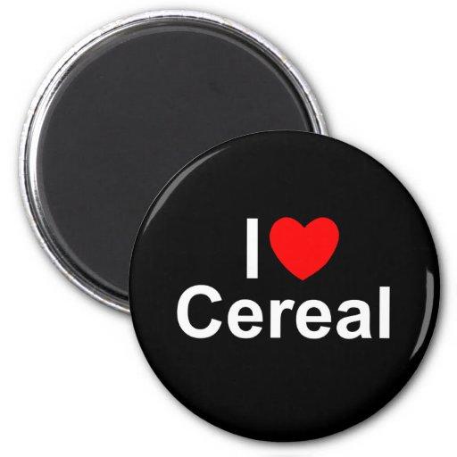 Amo el cereal (del corazón) imán redondo 5 cm