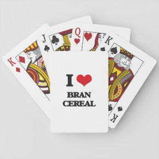 Amo el cereal del salvado barajas de cartas