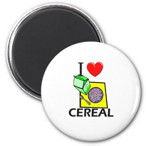 Amo el cereal iman de frigorífico