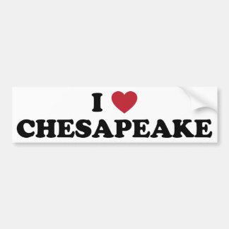 Amo el Chesapeake Virginia Pegatina De Parachoque