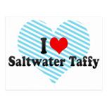 Amo el chicloso del agua salada postal