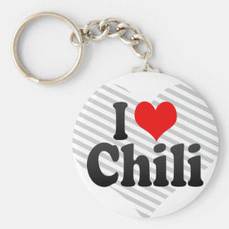 Amo el chile llavero personalizado