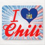 Amo el chile, Nueva York Alfombrilla De Ratones