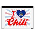 Amo el chile, Nueva York Calcomanías Para Portátiles