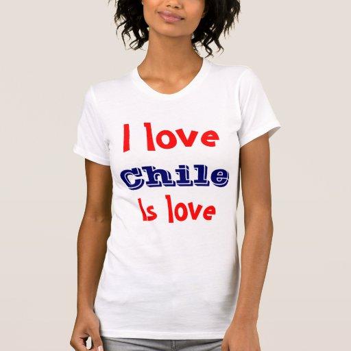 Amo el chile tee shirts