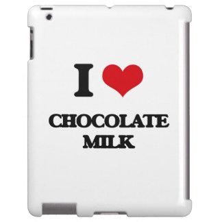 Amo el chocolate caliente funda para iPad
