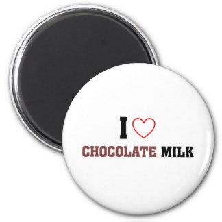 Amo el chocolate caliente imán redondo 5 cm