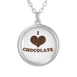 Amo el chocolate colgante redondo