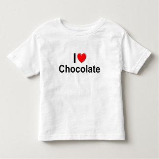 Amo el chocolate (del corazón) playera de bebé