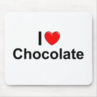 Amo el chocolate (del corazón) alfombrilla de ratón