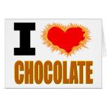 Amo el chocolate felicitaciones