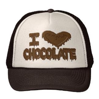 Amo el chocolate gorros