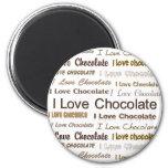 Amo el chocolate iman