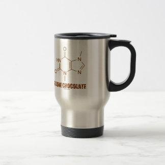 Amo el chocolate (la molécula química de la taza de viaje