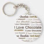 Amo el chocolate llavero