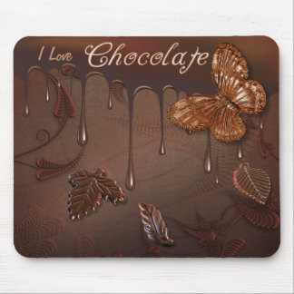 Amo el chocolate Mousepad Tapetes De Ratones