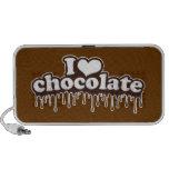 Amo el chocolate notebook altavoz