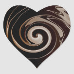 ¡Amo el chocolate! Pegatinas del corazón Calcomania De Corazon